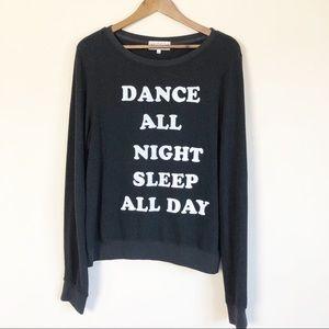 Wildfox Dance All Night Black Sweatshirt